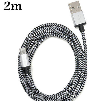 3M/10ft Long Braided Micro USB Data Charging Cable For Android Samsung Galaxy LG 8