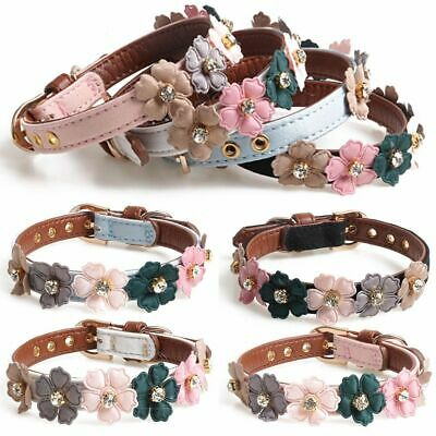 Leather Pet Dog Collar Safety Adjustable Puppy Cat Necklace For Dogs Pet Collar 4