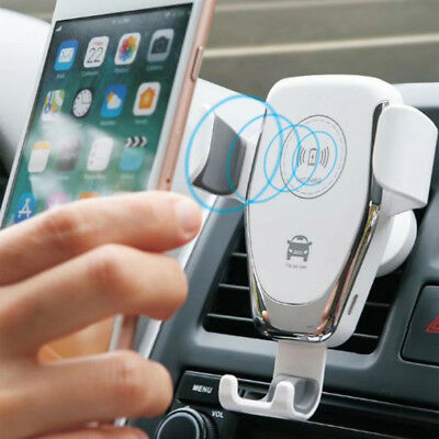 Qi Wireless Charger Car Air Vent Mount Holder For iPhone 8 MAX Samsung S8 S9 S10 4