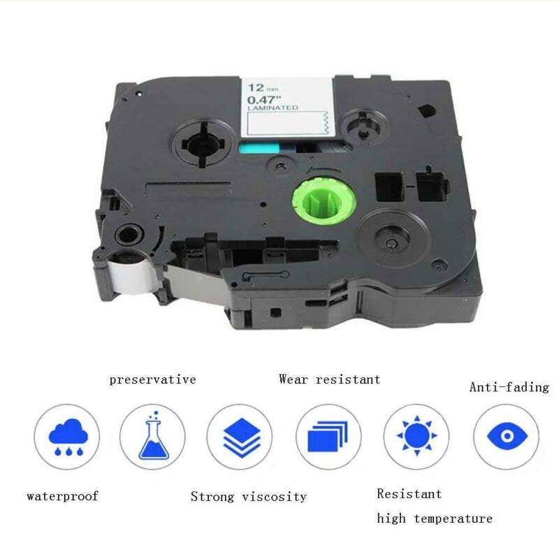 TZ TZe231 Black on White Compatible for Brother P-Touch Label Tape 12mm 2PK/nett 9