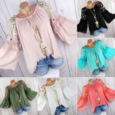 c3df6dad4ca ... Plus Size Boho Women Long Sleeve Kaftan Baggy Blouse T Shirt Tops  Casual Tunic 5