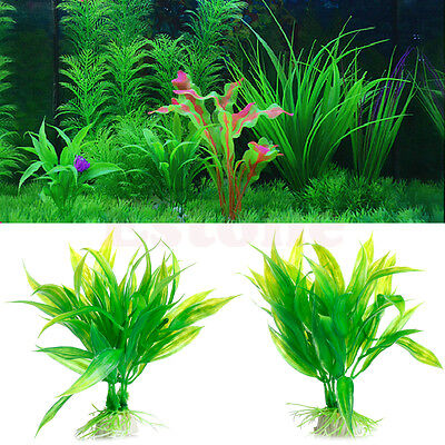 Fish Aquarium Aquarium Décor vert Plante Artificielle Plastique Water Plant 3
