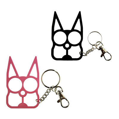 Pro Classic Cat Self-Defense Key Chain Keyring Emergency Metal Tool Women Gift 2