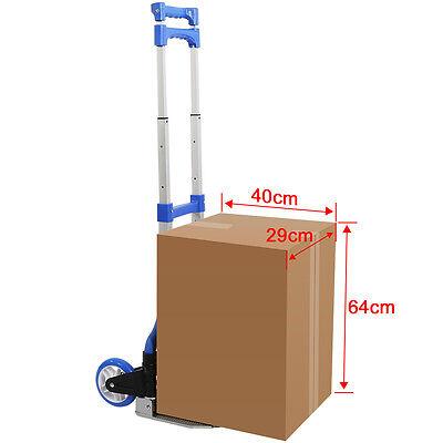 80KG Folding Aluminium Hand Trolley Luggage Cart Shop Foldable Wheels Heavy Duty