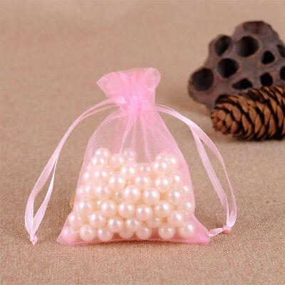 100x Large Organza Favour Pouches Gift Bag Voile Net Bags Drawstring Multi Color 7