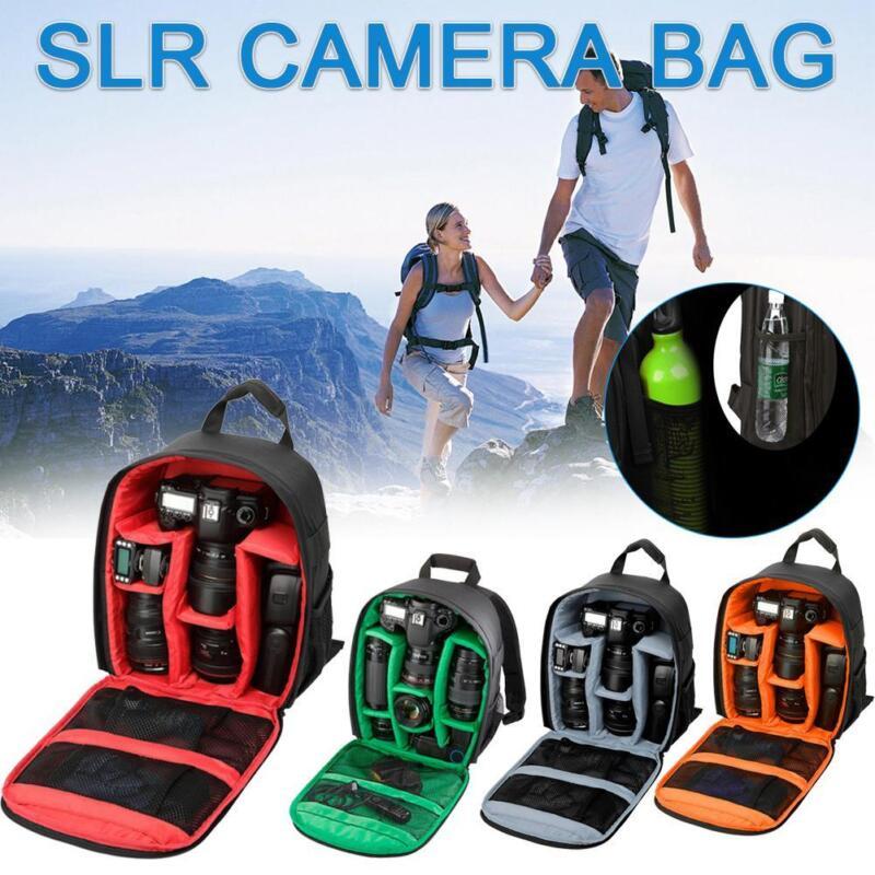 1X Travel Waterproof DSLR SLR Camera Bag Backpack For Canon Nikon Sony Rucksack 2