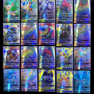 200pcs Pokemon carte GX Toutes MEGA Holo Flash Art Trading Cards Xmas Cadeau FR 5