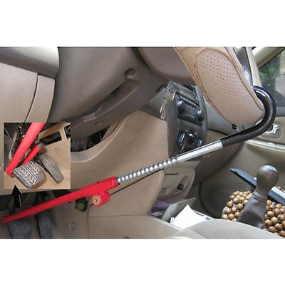 Car Anti-theft Pedal Steering Wheel Lock  Car Truck High Security Adjustable UK 4