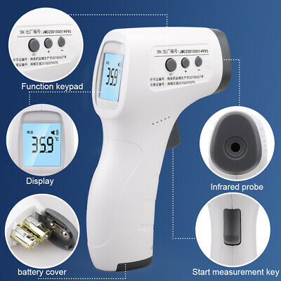 Non Contact Digital IR Infrared Forehead Thermometer Gun Adult Body Temperature 8