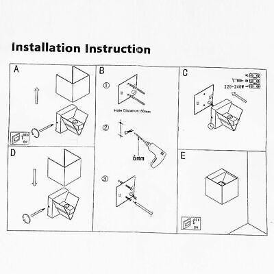 Applique Cubo Led 6W Faro Faretto Lampada Da Parete Muro Doppia Luce Per Esterno 9
