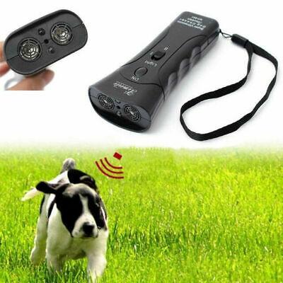 Ultrasonic Anti Dog Barking Trainer LED Light Gentle Chaser Petgentle Sonics 10