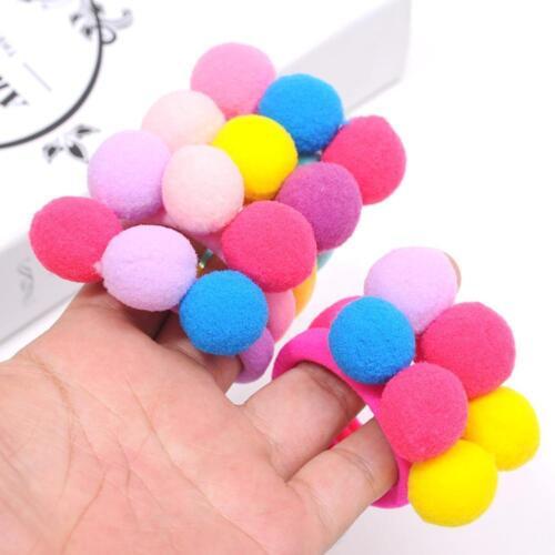 3X Cute 3 Balls Elastics Hair Holders Bands Gum Lovely Candy Kids Girls R ffvv 4
