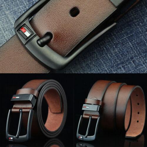 Mens PU Leather Belt Business Waistband Work Dress Pin Buckle Belts Fashion