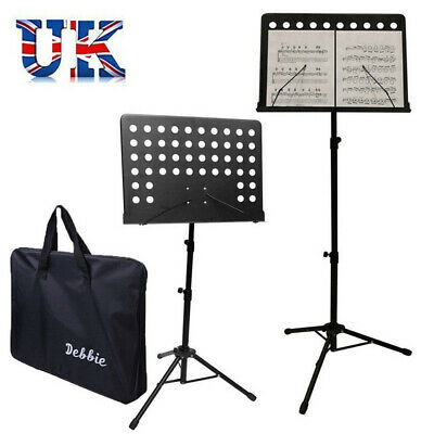 Orchestral Sheet Music Stand Tripod Height Angle Adjustment Portable Folding+Bag 4