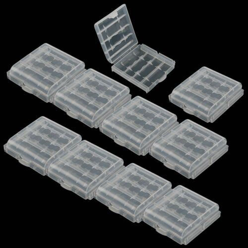 10pcs Hard Plastic Clear Case Cover Holder AA/AAA Battery Storage Box Hot Sale 2
