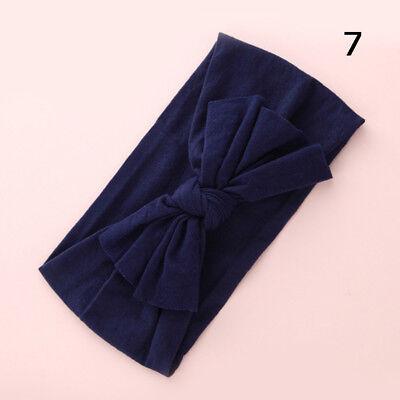 Baby Girls Kids Toddler Bow Hairband Headband Stretch Turban Knot Head Wrap H9 8