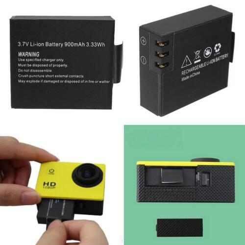3.7V 900mAh Rechargable Li-ion Camera Battery For SJCAM SJ4000 SJ5000 SJ6000 M10