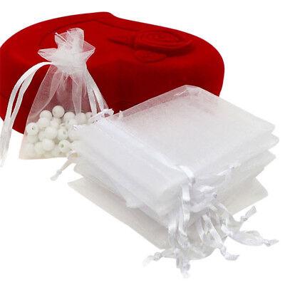 100x Large Organza Favour Pouches Gift Bag Voile Net Bags Drawstring Multi Color 9