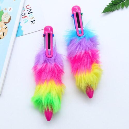 Cute Ladies Fluffy Gel Ball Pen Six Ink Neutral Pen School Supply Stationery 5