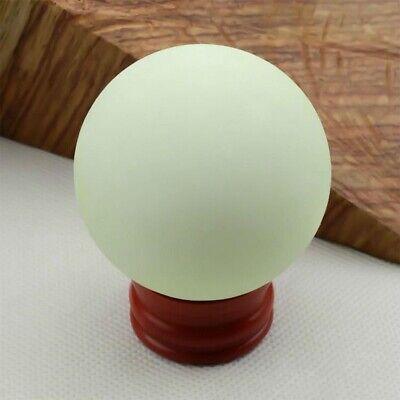 US Glow In The Dark Stone Green Luminous Quartz Crystal Sphere Ball & Stand 35mm 8