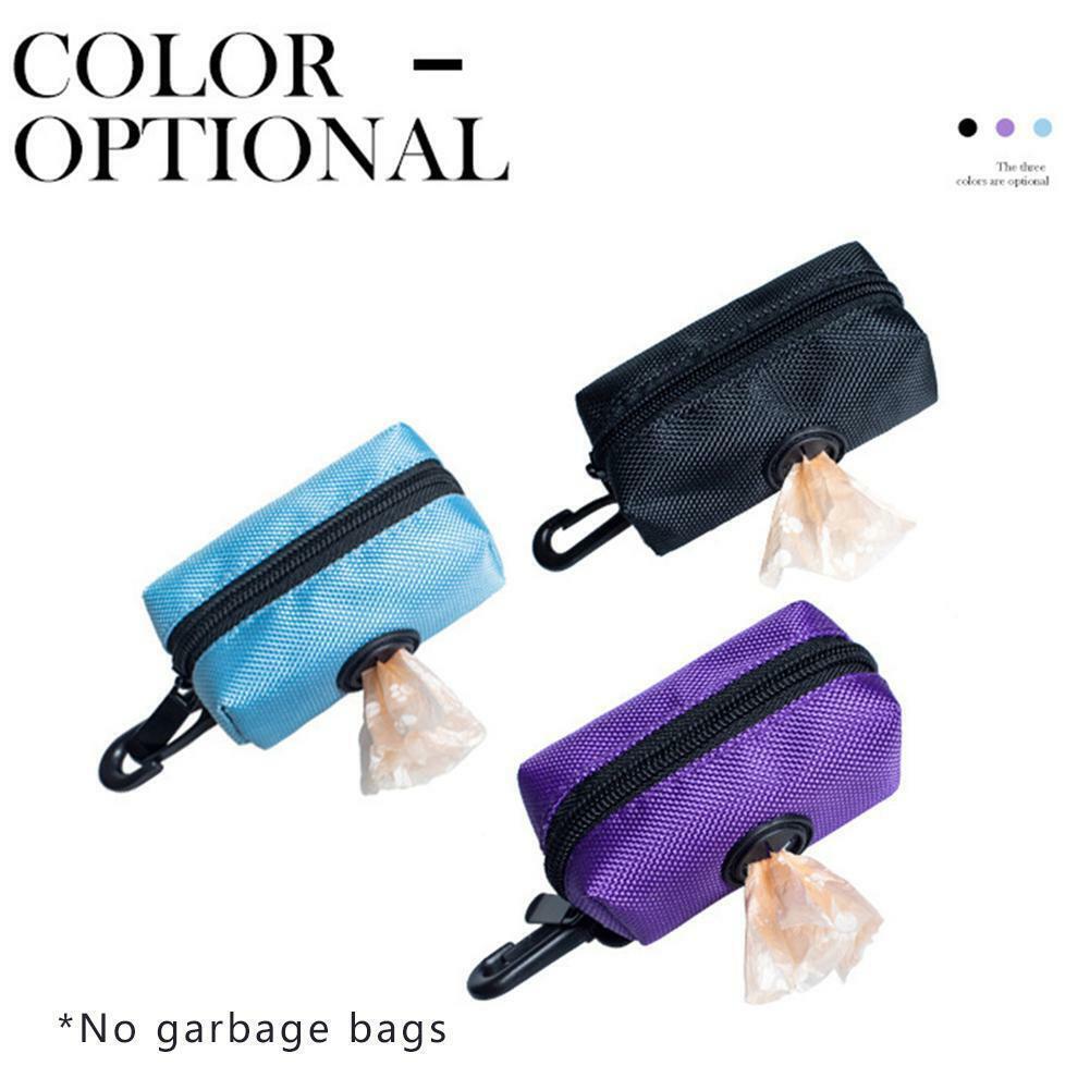 Pet Dispenser Waste Dog Poo Puppy Pick-Up Bags Travel Poop Bag Holder Hook Pouch 6