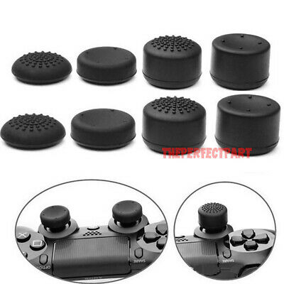 8Pcs Black Silicone Thumb Stick Grip Cover Caps For PS4 & Xbox One Controller US 8