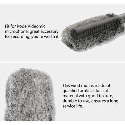 Professional Windproof Windshield Wind Muff for Rode Videomic Microphone LJ 4