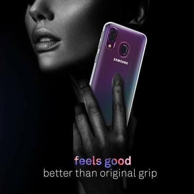 Cover Custodia + Pellicola Vetro Temperato Per Samsung A40 A 40 Trasparente 7