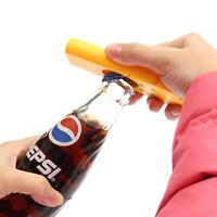 Creative Bottle Beer Opener Tool Bar Game Toy Flying Cap Launcher Key Ring Chain 3