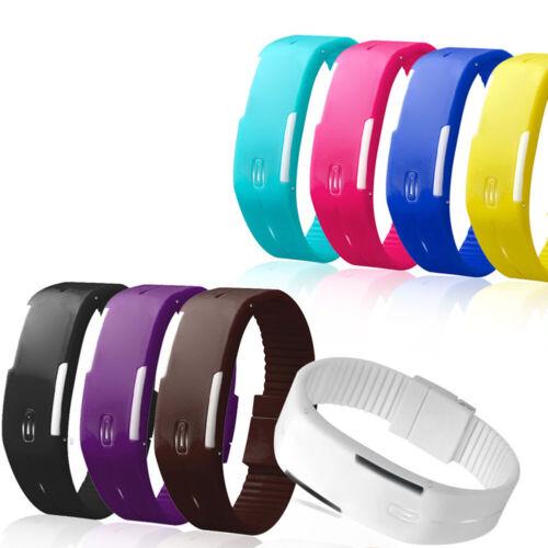 Multifunction LED Sport Electronic Digital Wrist Watch For Child Boys Girls Kids 8