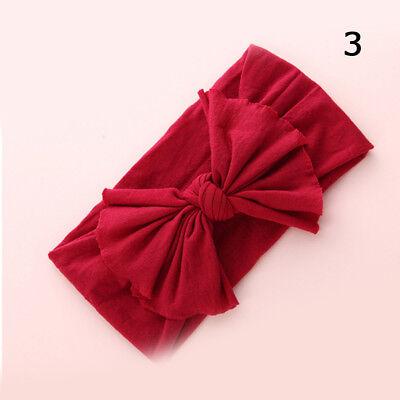Baby Girls Kids Toddler Bow Hairband Headband Stretch Turban Knot Head Wrap H9 4