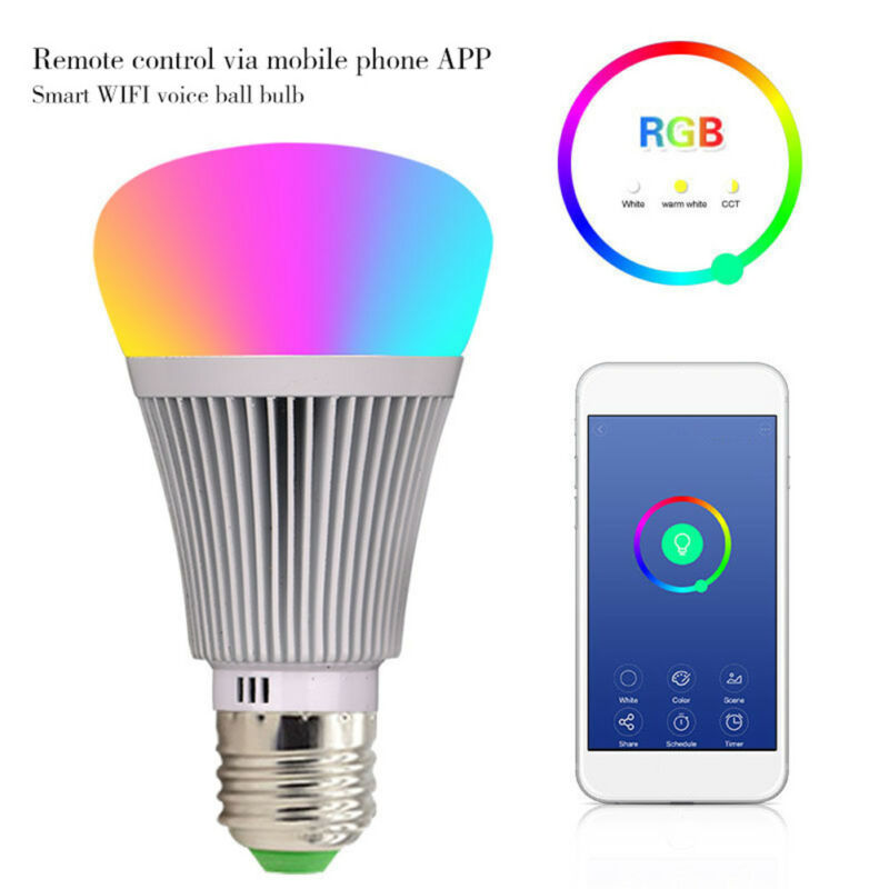 LED-Lampe E27Smart Dimmbare WIFI APP Fernbedienung RGB Home iOS Pro A 7