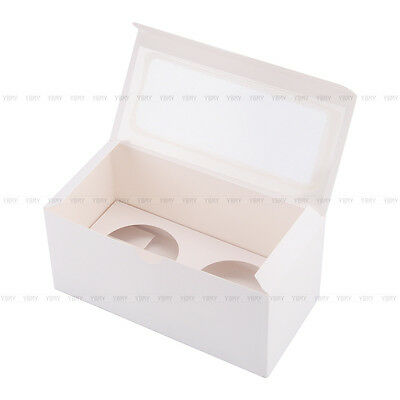 Cupcake Box Cases 1 hole 2 hole 4 hole 6 hole 12 hole 24 hole Window Face Gift 5