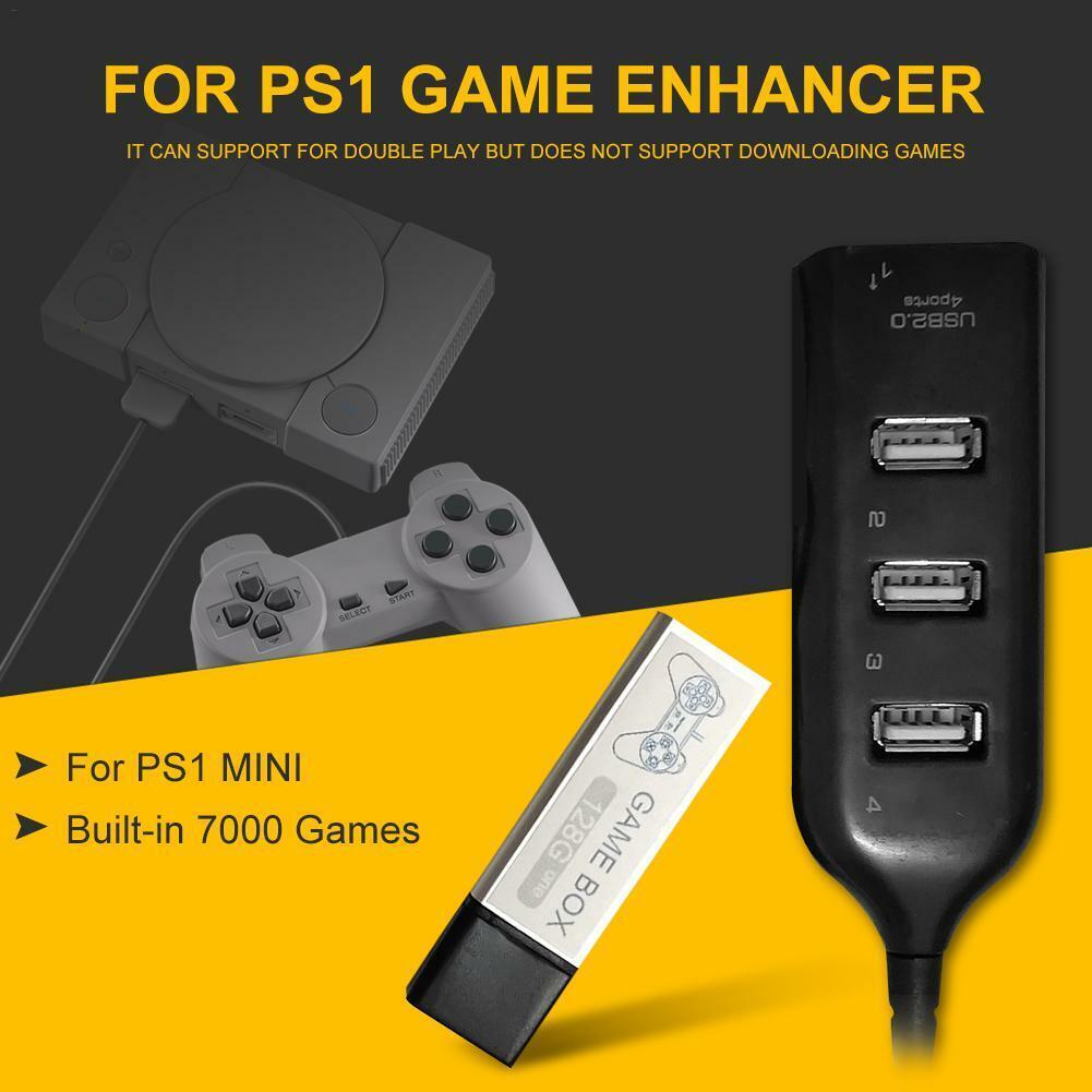 128G PS1 MINI True Blue Mini Crackhead Pack For Playstation Built-in 7000 Games` 4