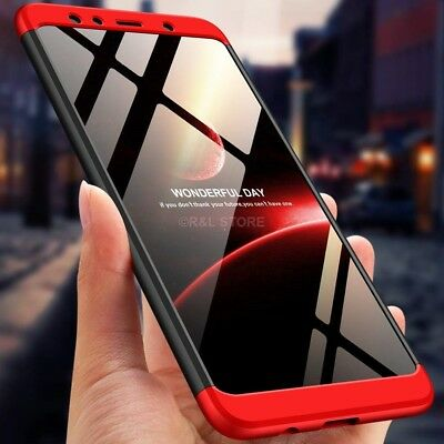 COVER per Samsung Galaxy A7 2018 CUSTODIA Fronte Retro 360° ORIGINALE ARMOR CASE 9