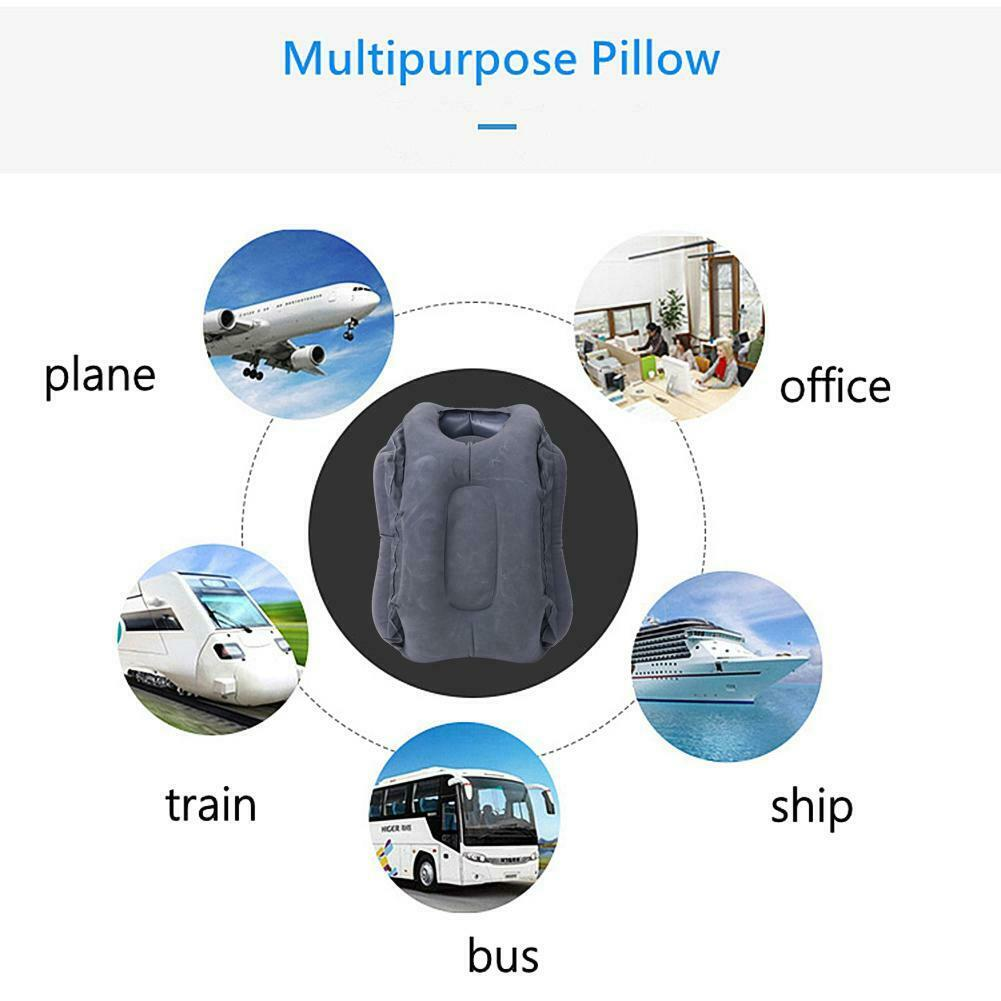 Inflatable Air Travel Pillow Cushion Neck flight Comfortable Support Nap lot US 7