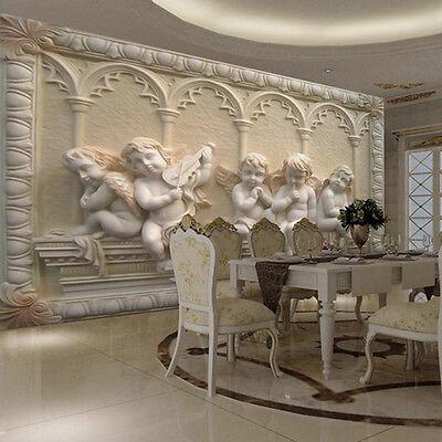 MODERN LUXURY 3D Embossed Angel Wallpaper Mural Roll Bedroom Wall TV