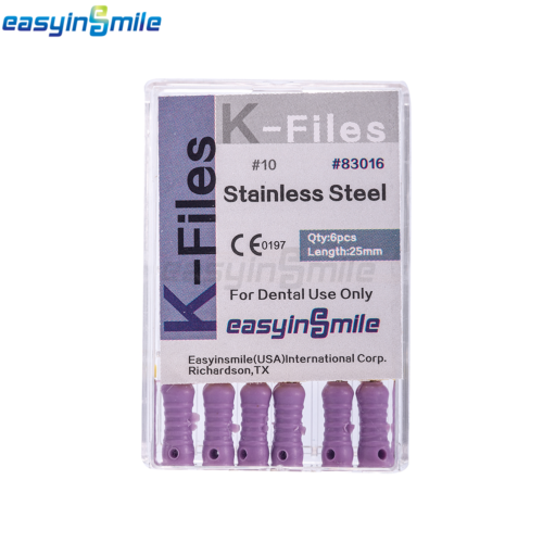 10XDental Endo Root Canal File K-FILES Stainless Steel Hand Use 25mm EASYISNMILE 6