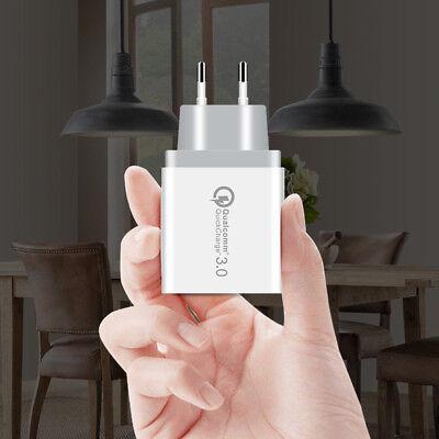 Universal 3 Port Fast Quick Charge QC3.0 USB Hub Wall Charger Adapter EU US Plug 8