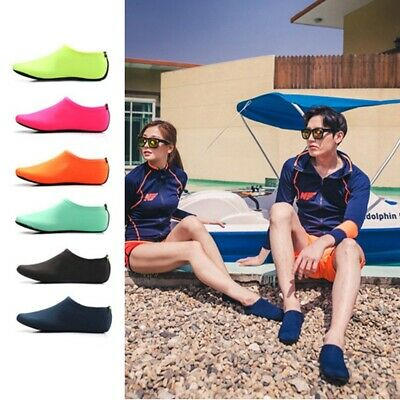 Unisex Aqua Shoes Mens Womens Kids Water Socks Slip On Sea Wet Beach Swim Surf H 4