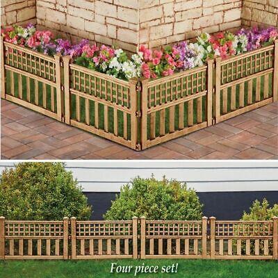 Garden Plastic Fence Panels Lawn Edging Garden Landscape Plant Border Bronze New 3