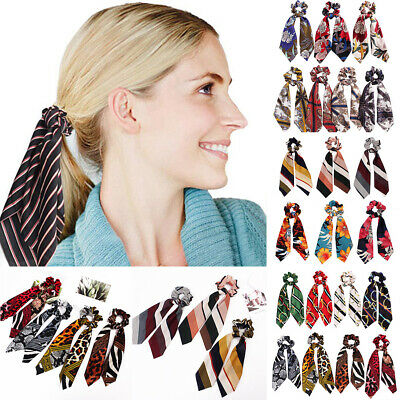 Attractive Ponytail Scarf Bow Elastic Hair Rope Tie Scrunchies Ribbon Hair Bands 2