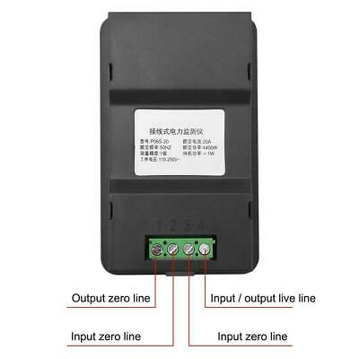 6 in 1 Digital AC Meter Voltage 110V-250V Current 20A Power Factor KWH Frequency 8
