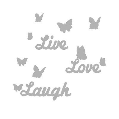 Diy Mirror Circles Erfly Live Love Laugh Wall Sticker Art Decal Home Decor 2