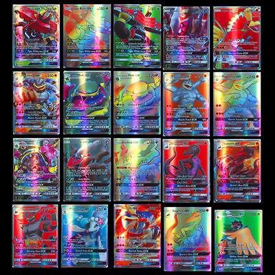 200Pcs Pokemon carte 195 GX + 5 MEGA Toutes Holo Flash Art Trading Cards Cadeau 2