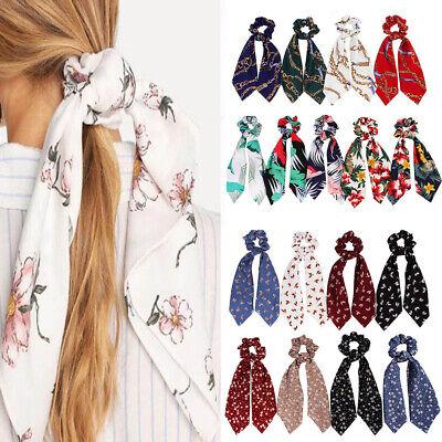 Double Layer Chiffon Bow Long Ribbon Scrunchie Hair Scarf Rubber Band Hair Tie @ 5