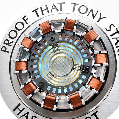 Iron Man Arc Reactor MK1 Tony Stark Heart LED Light USB Full Metal Movie Prop 3