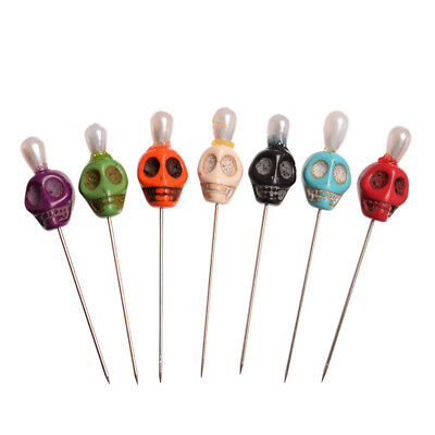 1set Skull Head Pattern Pins Evil Voodoo Curse Needles Voodoo Doll Accessory 2