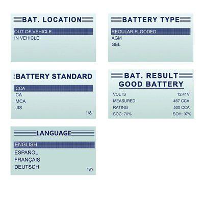 Digital Battery Analyzer 12V 100 -1100CCA Car Battery Load Tester ANCEL BST200 3
