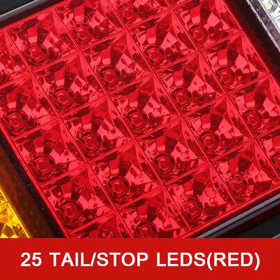 2X Tail Lights DC 12V Brake Reverse 75-LED Trailer Truck UTE Caravan ADR Approve 5